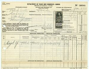 Weeda Canada FWM67 Weights and Measures 1948 document, Windsor, ON