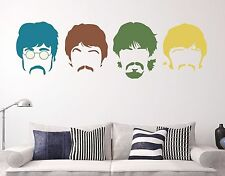 The Beatles Silhouette Haircut Mustach Logo Black Wall Decal Sticker Decor Vinyl
