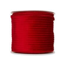 Corduroy Velvet Wired Edge Ribbon 100mm x 8m Bright Red