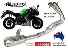 Kawasaki ER6 N/F 2012-2016 Musarri Stainless GP Series Full System exhaust