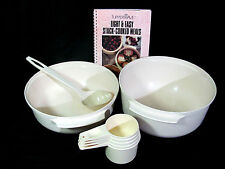 Tupperware Tupperwave 1.75 & 3 Qt Stack Cook Dishes, Cookbook & 5 Measuring Cups