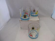 Set of 4 Vintage Bay Meadows Horse Track Cocktail Glasses
