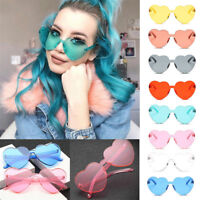 Womens Large Oversized Lolita Heart Shaped Sunglasses Cute Love Fashion Eyewear