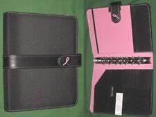 "DESK ~ 1.0"" ~ Pink Ribbon NYLON Day Timer Planner BINDER Classic Franklin Covey"