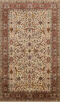 6x9 Floral Traditional Agra Oriental Area Rug Vegetable Dye Hand-knotted Wool