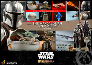 HOT TOYS STAR WARS TMS015 THE MANDALORIAN & CHILD DELUXE 1:6 FIGURE ~SEALED BOX~