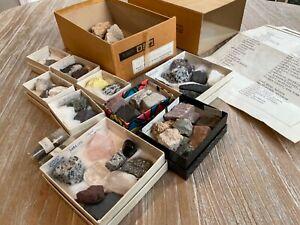 Original Box Vintage 1960s Ward's Syracuse U Rock Mineral Set 50 specimen lot