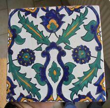 carreau signé  a decor iznik maroc?  maghreb.afrique du nord emaux.