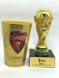 FINAL WORLD CUP TROPHY 2014 FIFA  FINAL + PLASTIC GAME CUP Official Product NEW