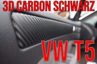 VW T5 3D CARBON SCHWARZ ZIERLEISTEN FOLIEN SET Caravelle Multivan Transporter
