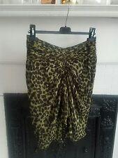 Isabel Marant olive green leopard print Coleen skirt, size 38FR, S/M Orig $298