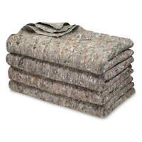 NEW US Military Surplus Emergency Disaster Wool Blankets Thermal, 4 Pack Large