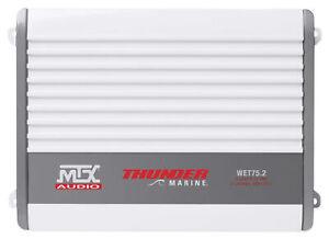 MTX WET75.2 400 Watt 2-Channel Marine Amplifier Amp For Boat/ATV/UTV/RZR/Cart