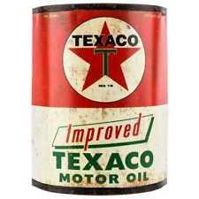 Texaco Half Oil Can Metal Wall Decor New Gas & Oil Vintage Retro