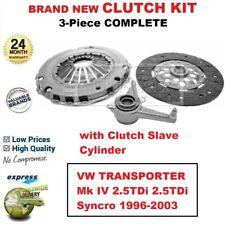 Für VW Transporter Mk IV 2.5TDi Syncro 1996-2003 Brandneu 3-PC Kupplung Set +