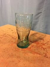 Collectible McDonald's Famous 15 Cent Hamburger Green Tinted Drinking Glass 1948