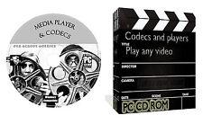 Media Player Codecs Pack Play Any Video DVD AVI DIVX MP3 WAV CD MPEG Blue Ray