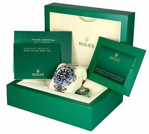NEW APRIL 2021 Rolex GMT Master II Batman Jubilee Blue Ceramic Steel 126710 BLNR