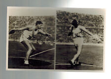 Mint 1936 Germany Olympics CArpenter Erringer USA Discus Real Picture Postcard