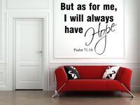 Psalm 71:14 Bible Verse Vinyl Wall Sticker Decals Scripture Quote Word Art Decor