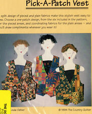 """1994 The Country Quilter Sewing Pattern # CQ117 """"Pick-A-Patch Vest"""" S-M-L-XL"""