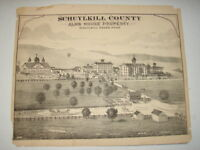 Original 1873 Print Alms House - Schuylkill Haven, Pa - Schuylkill County, Pa