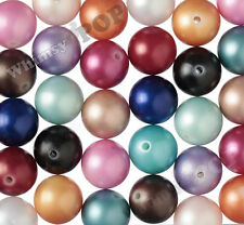 20mm - 12pcs Mixed Color Matte Pearl Bubble Gum Beads Chunky Acrylic Round Gumba