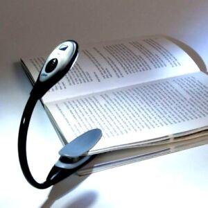 Travel Light - LED Clip On Book Light Reading Lamp Flexible Portable Desk Night