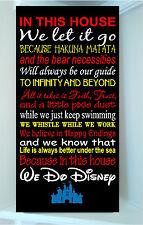 Wooden 12x24 sign w vinyl quote We Do Disney famous movie quot MULTICOLOR Styl 1
