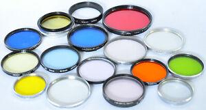 Lot of 16 Vintage Lens Filters Nikon, Voigtlander, Hasselblad,Canon,Asahi Pentax