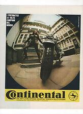 Pubblicità 1970 MOTO MOTOR PNEUMATICI CONTINENTAL advertising werbung publicitè