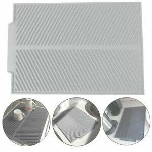 Silicone Dish Draining Mat Kitchen Pans Washing Up Drainer Tray Drying Board Pad
