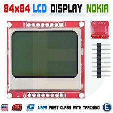 Lcd Module White Backlight 8448 84x48 Pcb Nokia 5110 Arduino Raspberry Pi Usa