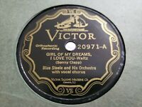 78 BLUE STEELE ORCH GIRL OF MY DREAMS SUGAR BABE I'M LEAVIN VICTOR VE 20971