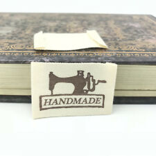 DIY 100X HANDMAD Printing cloth Tag Washable Clothing Woven Labels Accessorie
