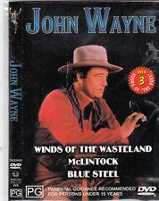 Winds of The Wasteland-1936/McLintock-1963/Blue Steel-1934-John Wayne- Movie-DVD