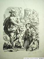 Hans FRANKE (1892-1975) Lithographie 1935: JESUS ALS GÄRTNER