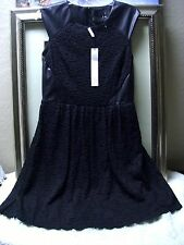 Yigal Azrouel Lace & Leather Dress Size 10 $1590