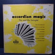 "25 CMS 10"" TITO AND HIS SWINGTET Accordion magic MGM RECORDS E249"