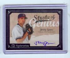 2007 UD MASTERPIECES JEREMY SOWERS AUTO - INDIANS