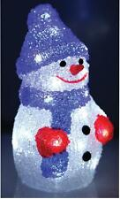 Acrylic Snowman 24 White Led Illumination 22cm Christmas Xmas Decoration