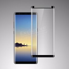 Samsung Galaxy NOTE 8 [Case Friendly] 3D TEMPERED GLASS Screen Protector - Black