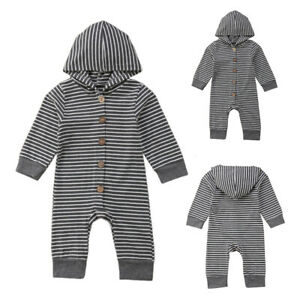 Kids Baby Girls Boys Casual Striped Baggy Jumper Playsuit Party Holiday Pullover