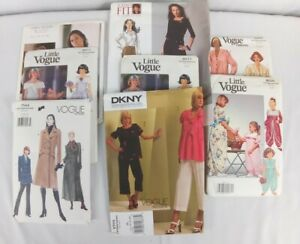 Lot Of 8 Vogue & Little Vogue Sewing Patterns