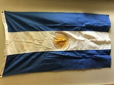 Vintage Argentina 3' X 5' National Flag Cotton w/Box Chicago Flag Co.