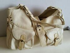 Tommy & Kate Real leather handbag large cream Shoulder Bag