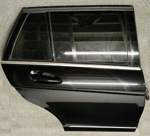 MERCEDES C CLASS W204 ESTATE DRIVER SIDE RIGHT COMPLETE REAR DOOR IN BLACK 197