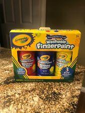 Crayola Washable Bold Fingerpaint Set, Bottle, Primary, Set of 3