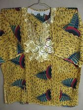 African DASHIKI Men Women 2 POCKETS Beautiful KITENGE Pattern #DK116