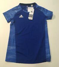 New Adidas Youth Size M Climalite Training Shirt Jersey, Royal Blue AO4370, NWT